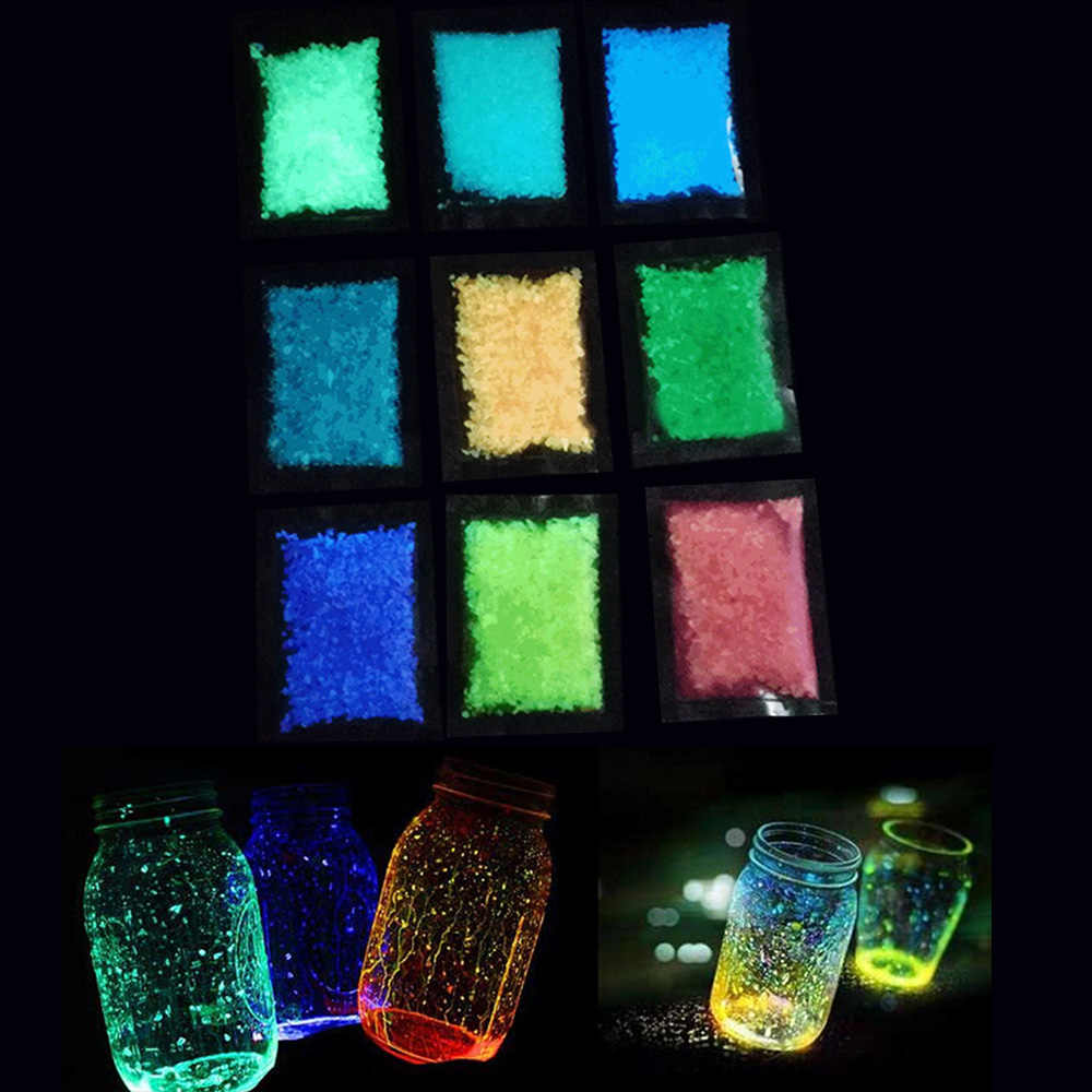 Luminous Sand Stones Garden Park Road Pebbles Glow In Dark Ornaments For Party Aquariums Fish Tank Decoration Stone Ornaments