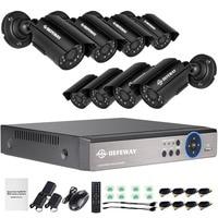 DEFEWAY 720P Outdoor Cameras 4CH AHD DVR KIT CCTV Waterproof HD Camera Night Vision CCTV System