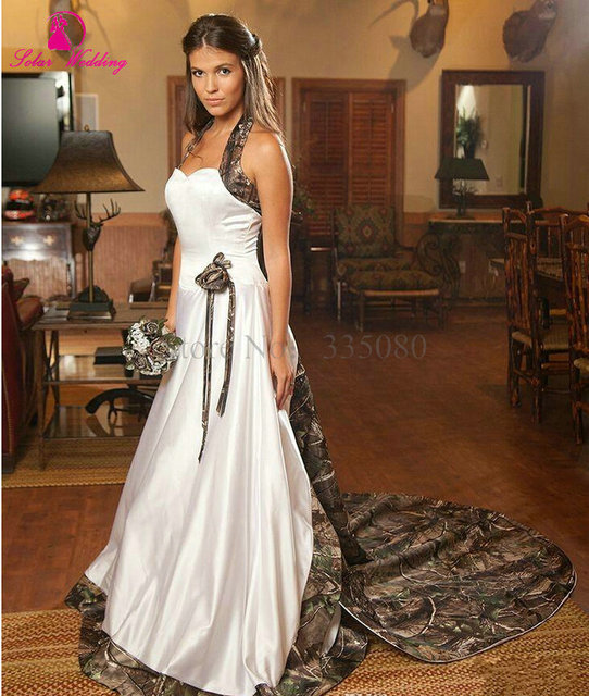2016 New Design Maxi Dress Women Camouflage Halter Long Train White ...