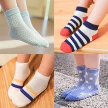 5 Pair=10PCS/lot Baby Socks Neonatal Summer Mesh Cotton Polka dots plain stripes Kids Girls Boys Children Socks For 1-10 Year