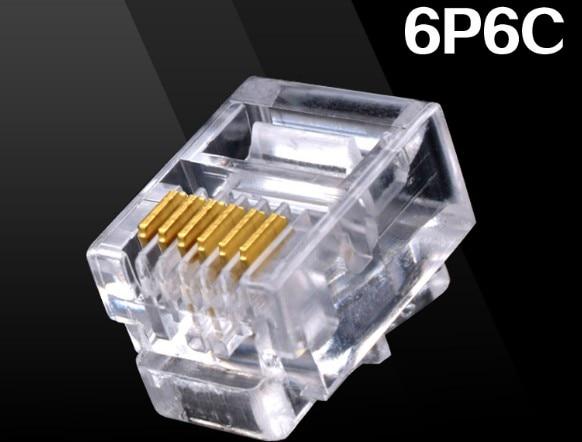Pcs Durable Pin Rj Rj P C Modular Plug Telephone Phone Connector And Nc Crystal