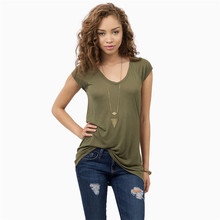VZFF Small V-neck Solid Color Shirt Female Slim Sexy Short-Sleeved T-Shirt 2019 Summer Womens Top