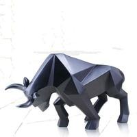 Nordic Minimalist Geometric Animal Cow Ornaments Modern TV Cabinet Opening Creative European Decorative Artwork