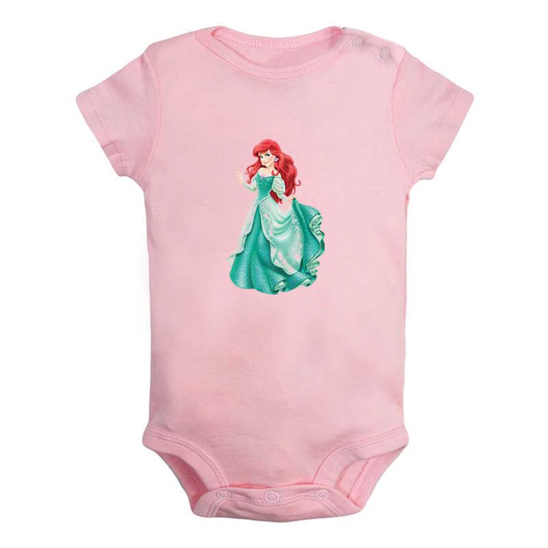 Leuke Cartoon De Kleine Zeemeermin Ariel Prins Eric Ontwerp Pasgeboren Baby Jongens Meisjes Outfits Jumpsuit Print Baby Bodysuit Kleding