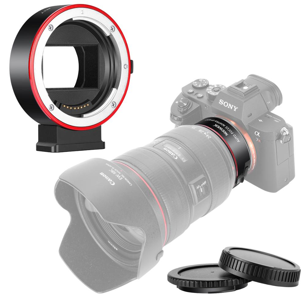 Neewer Electronic AF Lens Mount Adapter Auto Focus Aperture Control Compatible with Canon EF/EF S Lens to Sony E Mount Cameras