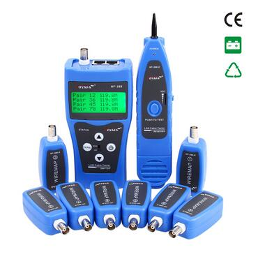 Free Shipping! NOYAFA NF-388 Multipurpose LAN Cable Tester Network Telephone Cable with 8 Remote Identifier English Interface acpl h342 000e acpl h342 500e h342