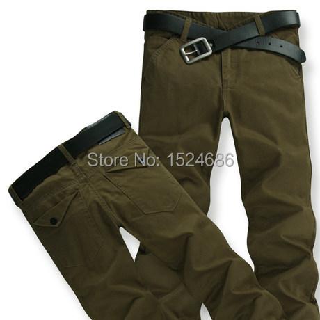 Calças Chinos 2016 Hot Sale Mens Pantalones Hombre Regular Plana Casuais Calças Retas Para Os Homens 4 cores Plus Size 28-46 8608