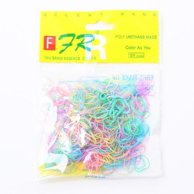 500PCS/Lot Wholesale Disposable Children Baby TPU Hair Rubber Bands