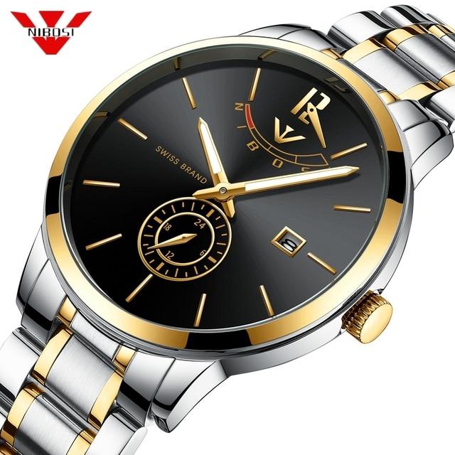 14b17d6d2d5 NIBOSI Homens Relógio Do Esporte Da Forma Relógio de Quartzo Mens Relógios  Marca de Luxo Completa