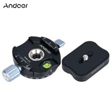 Andoer PAN C1 adaptador de abrazadera de cabeza de bola de trípode panorámico con placa de liberación rápida para Arca Swiss AS Standard QR Plates