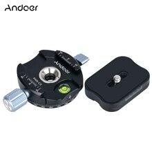 Andoer PAN C1 panorâmica tripé cabeça bola cabeça braçadeira adaptador com placa de liberação rápida para arca swiss como placas qr padrão