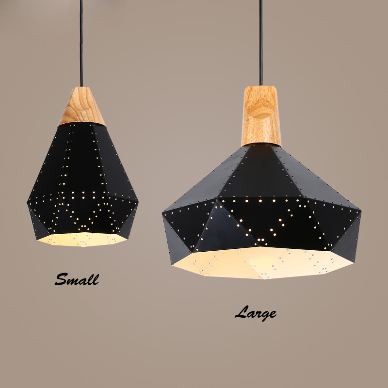 Nordic Simple Art Pendant Lamp E27 Creative Black Metal Hanging Light For Bar Coffee Shop Home Decorative Lighting Fixture PL489 oti indoor decorative lighting nordic creative individuality pendant light for restaurant hotel bar pendant lamp