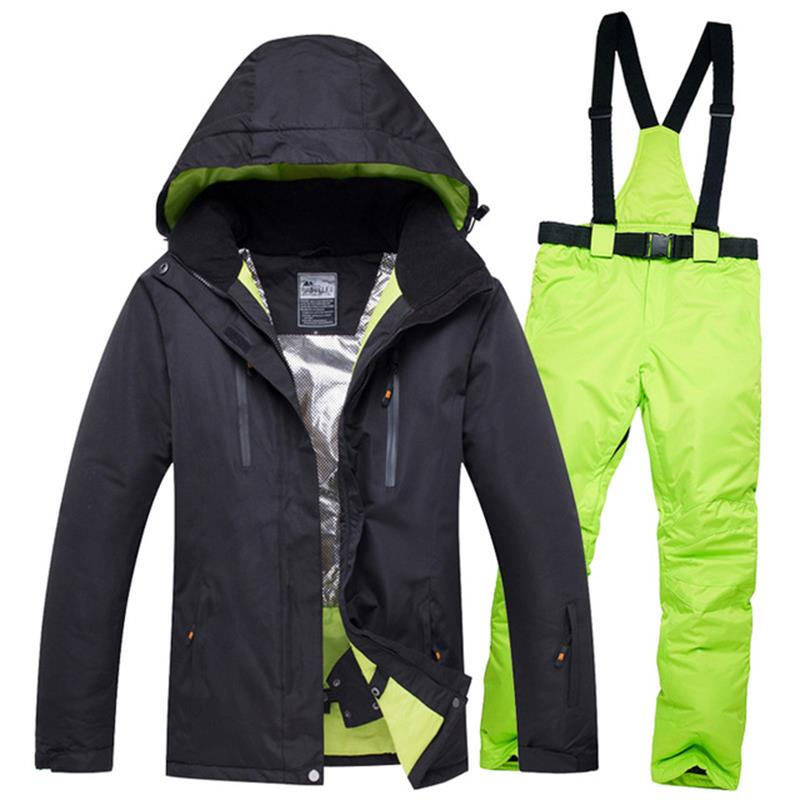 winter outdoor snow sports men's ski suits waterproof windproof snowboarding clothes men skiing suit jackets and pants male 2018 new lover men and women windproof waterproof thermal male snow pants sets skiing and snowboarding ski suit men jackets