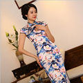 S-3XL Chinese Women Silk Cheongsams Vintage Long Qipao China Oriental Dresses Traditional National Wind Cheongsams for Womens