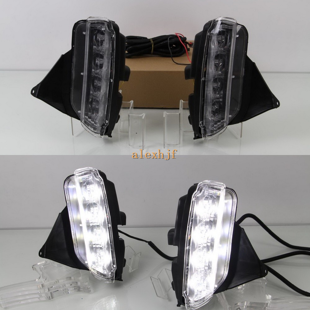 July King LED Daytime Running Lights DRL, LED Front Bumper Fog Lamp Case for Toyota VIOS 2013~ON 1:1 Replacement july king led daytime running lights drl case for honda crv cr v 2015 2016 led front bumper drl 1 1 replacement