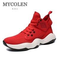 MYCOLEN 2018 Новинка весны/осень кроссовки Роскошные модельеров легкие дышащие Для мужчин повседневная обувь Мужская обувь Спорт