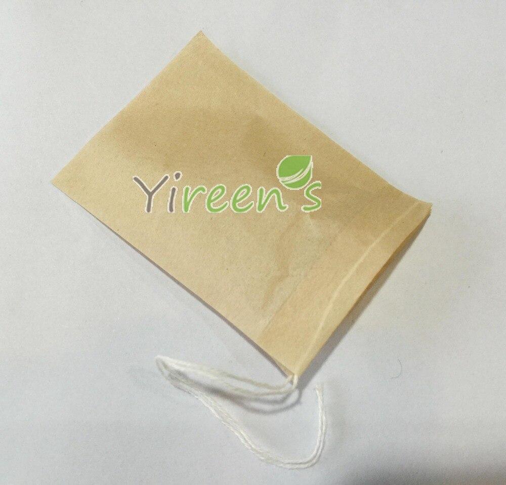 Бесплатная доставка! 1000 шт./лот 50x70 мм коричневый цвет неотбеленной Чай сумка одноразовые Чай Фильтры строки Чай мешки, мешки кофе