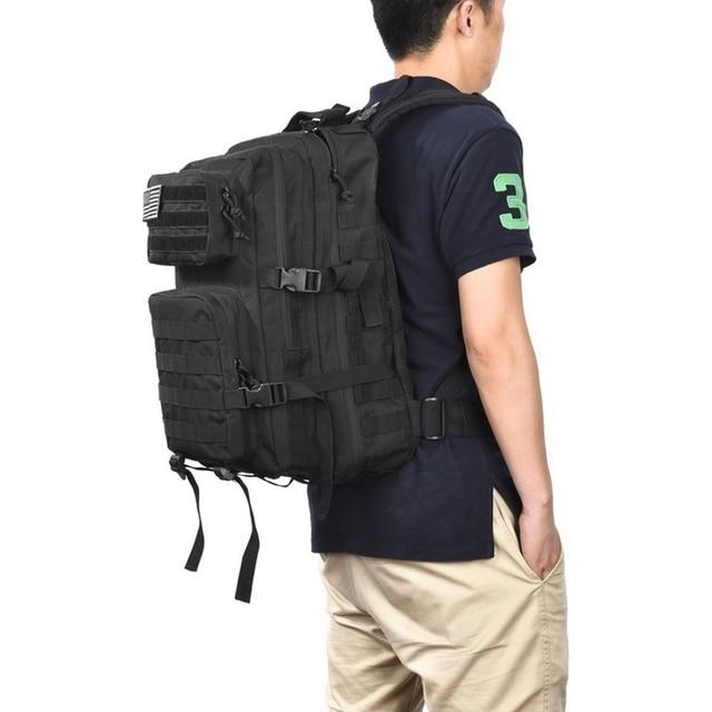 Tactical Backpack 1000D Military Men Women Army Bag Outdoor Waterproof 43L Bagpack Waterproof Travel Hiking Mochila Molle Bags 6
