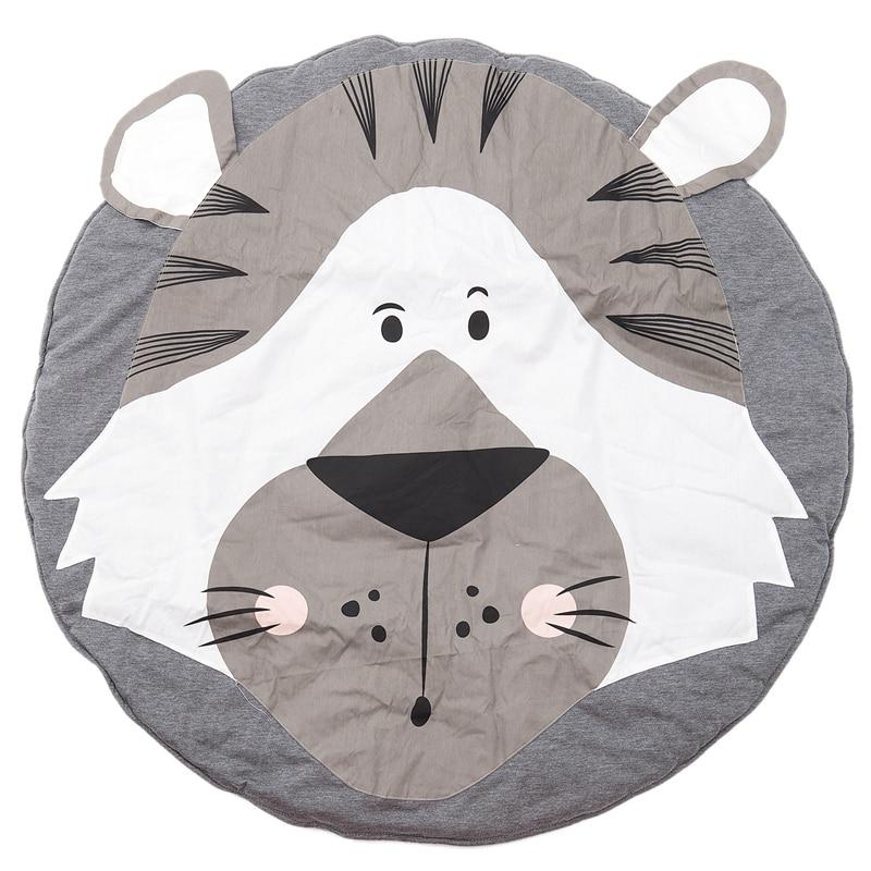 Baby Rugs Creeping Crawling Mat Cartoon Sleeping Rugs, Children Anti-Slip Game Mat Cotton Floor Play Mat Blanket Play Environm