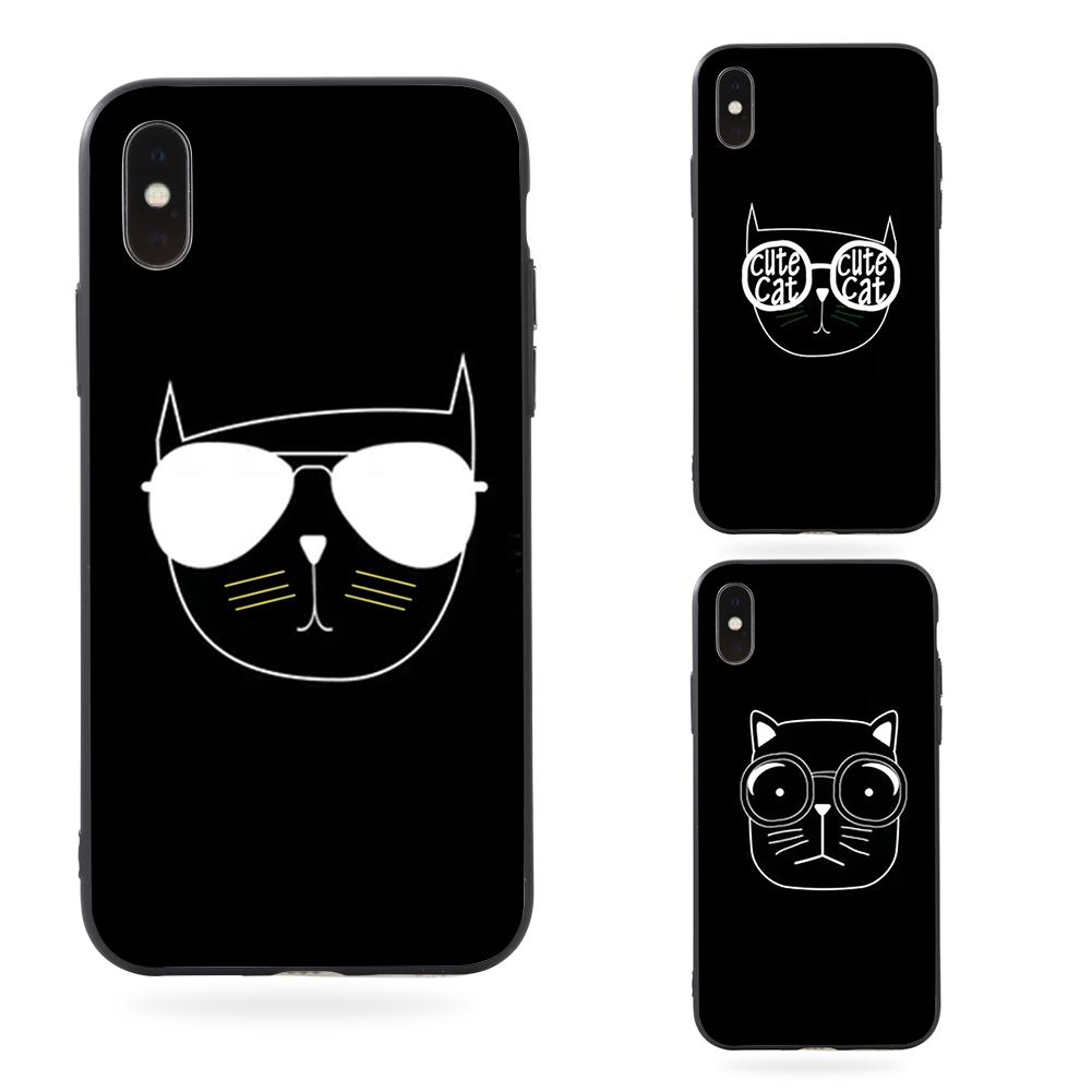 phone drawing case simple mobile iphone cat plastic protective cases