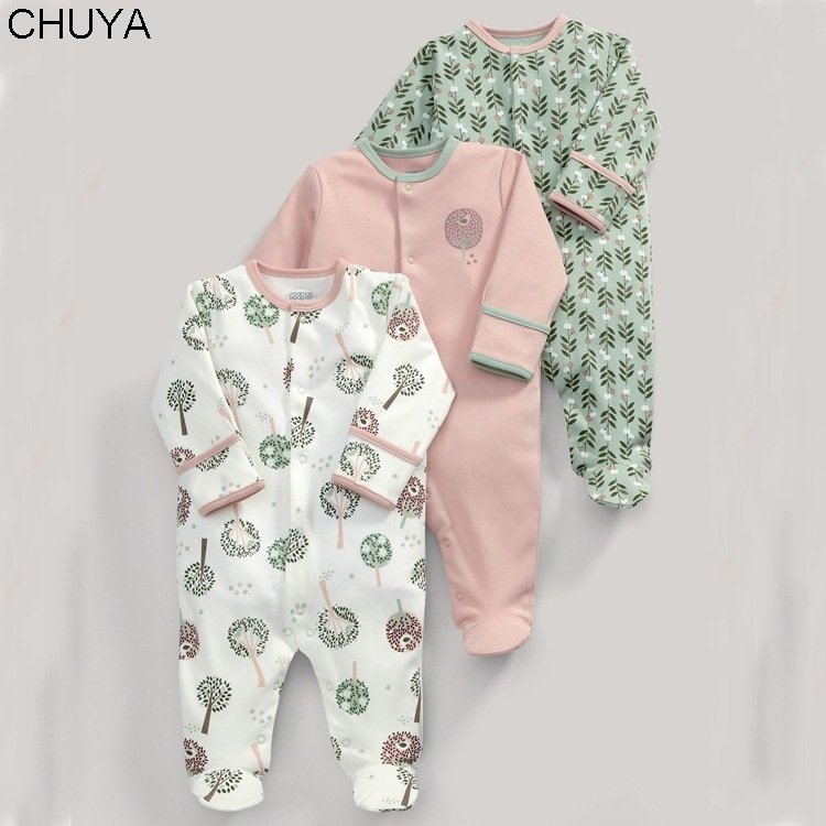 spring and autumn models for children boy and girl baby cotton long-sleeved baby jumpsuit climb coat 3 setsspring and autumn models for children boy and girl baby cotton long-sleeved baby jumpsuit climb coat 3 sets