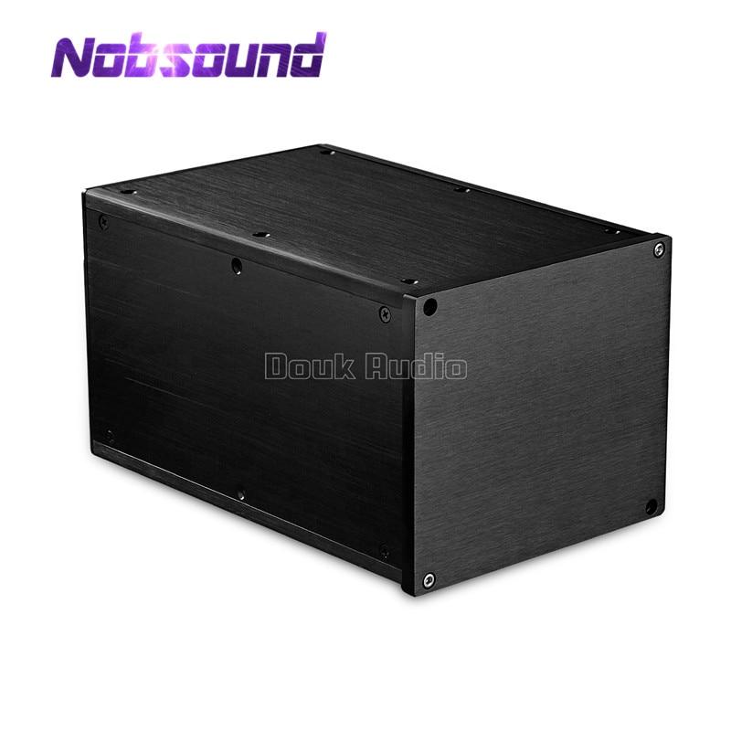 Nobsound Black Aluminum Enclosure Amplifier Chassis DIY Case W161*H140*D251 mm