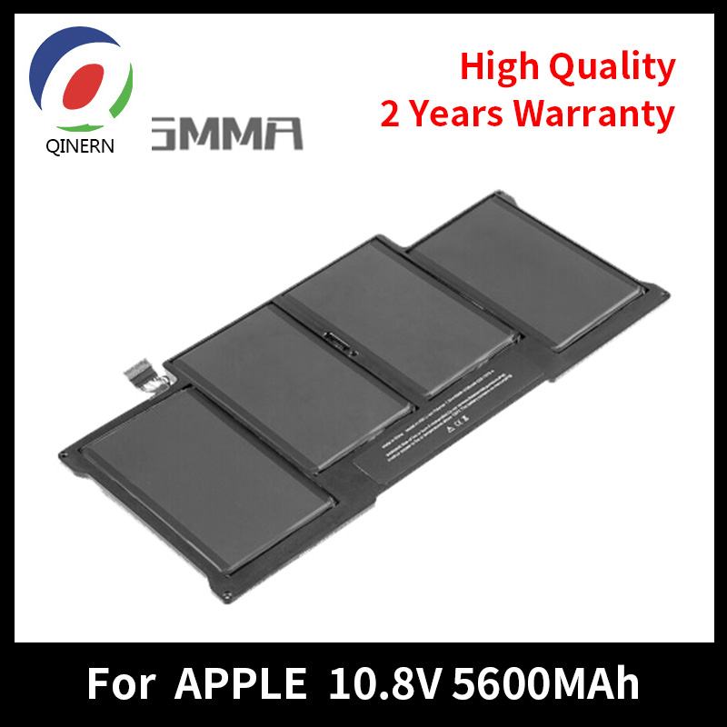 QINERN 10.5V 5600MAh Notebook Laptop Battery For APPLE AP1405 for Macbook Air 13 A1369 A1370 A1465 A1466 Battery for Laptop hsw rechargeable battery for apple for macbook air core i5 1 6 13 a1369 mid 2011 a1405 a1466 2012