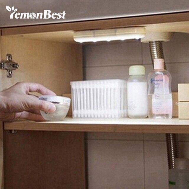 Beleuchtung Für Küchenschränke | Lemonbest Drahtlose Wandleuchte Mini 5 Led Nachtlicht Schrank Lampe