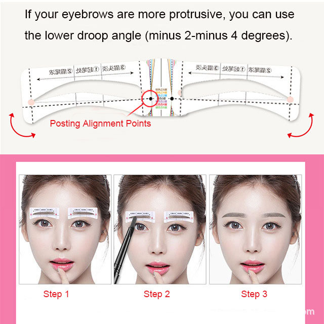 Eye makeup eyebrow stencil 10 different eyebrow shape template beauty cosmetic for women eyebrow drawing guide ruler AC068 2