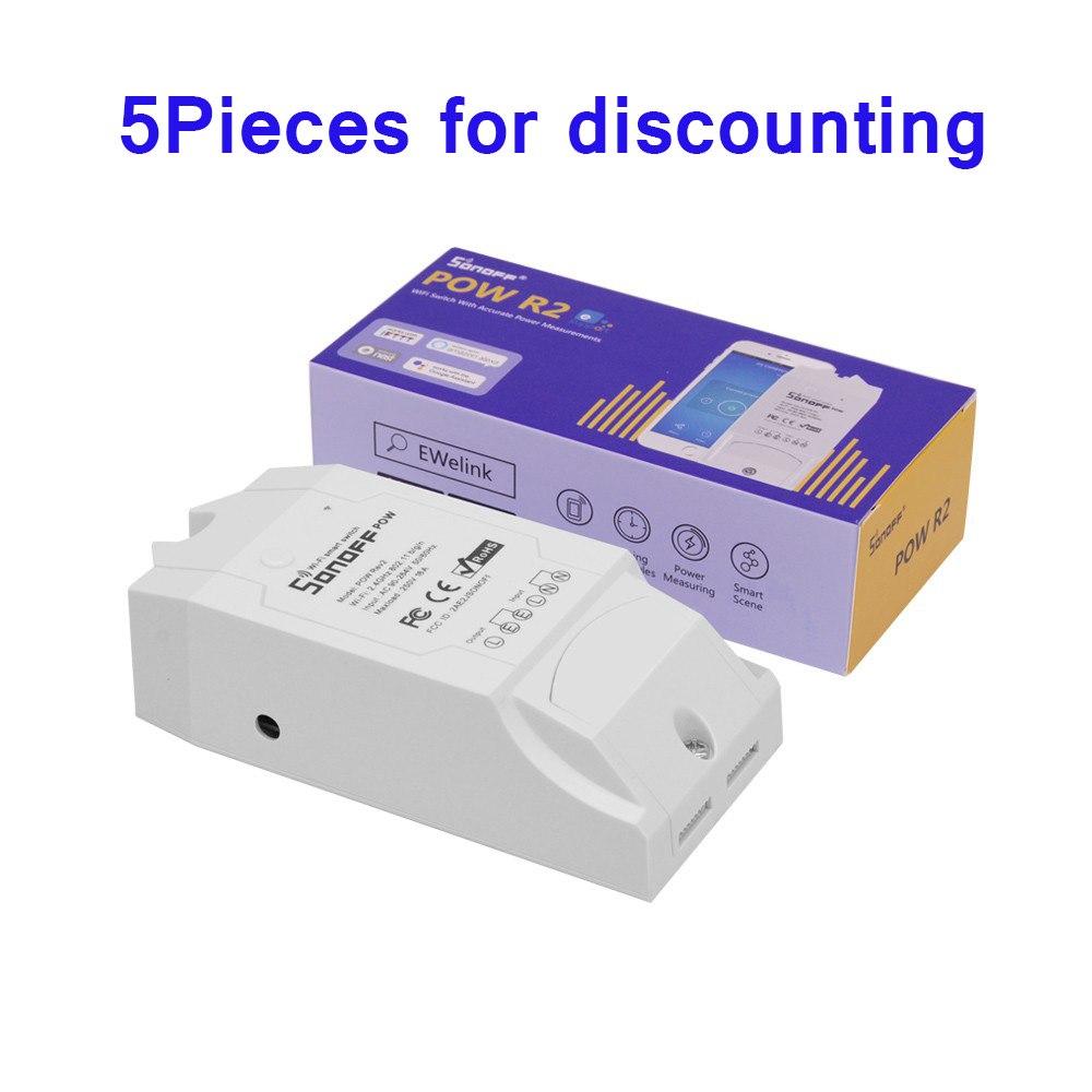 5pcs lot Sonoff Pow R2 Wireless WiFi Switch With timer Consumption Measurement For smart home automation