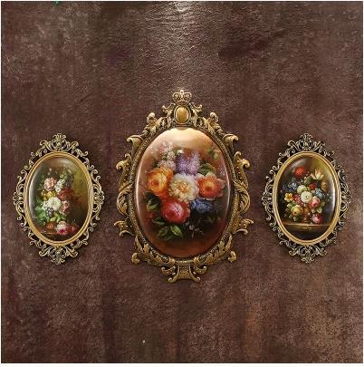 Vintage Européenne classique tenture œuvre, mur décoration murale, restaurant salon chambre décorations artisanat