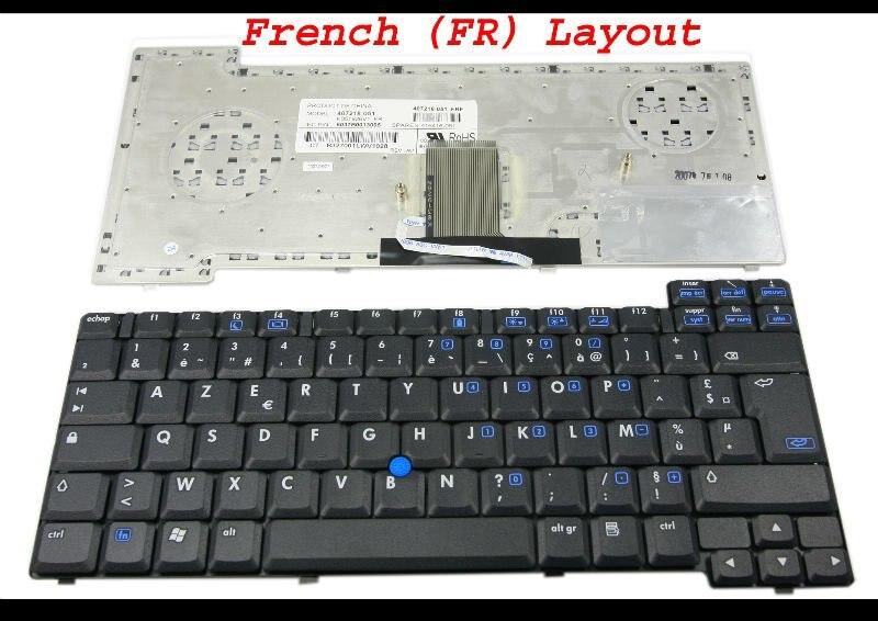 Новинка Клавиатура для ноутбука hp Compaq nc8430 nw8440 nx8420 с указателем стикеры Черный Французский FR клавиатура AZERTY Clavier-K051926V1 FR