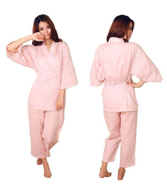 21ebccb9e0 Yukata Japanese Kimono Traditional Japanese women s Clothing Japanese  Pajamas women s Sleepwear Lounge Home Clothing Suits 02060