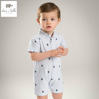 DB5873 Dave Bella Summer New Born Baby Boys Rompers Cotton Romper Infant Romper Lovely Rompers 1