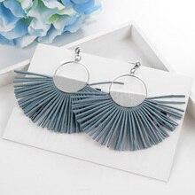 MINHIN Women Tassel Earrings Bohemian Summer Luxury Beach Vacation Earring Wedding Jewelry Geometric Dangle Fringe