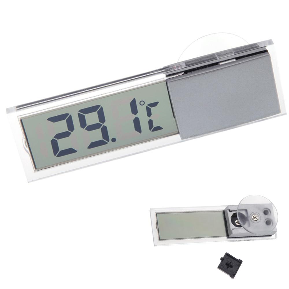 Автомобиль термометр всасывания автомобиля Термометры всасывания на лобовое стекло автомобиля или авто зеркало заднего вида цифровой Дисплей термометр