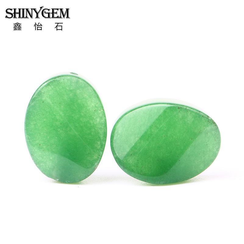 Natural Oval Green Aventurine Beads Twisted Bead 15x20mm For Jewelry Making DIY Jewellery Free Shipping Wholesale XYCA137