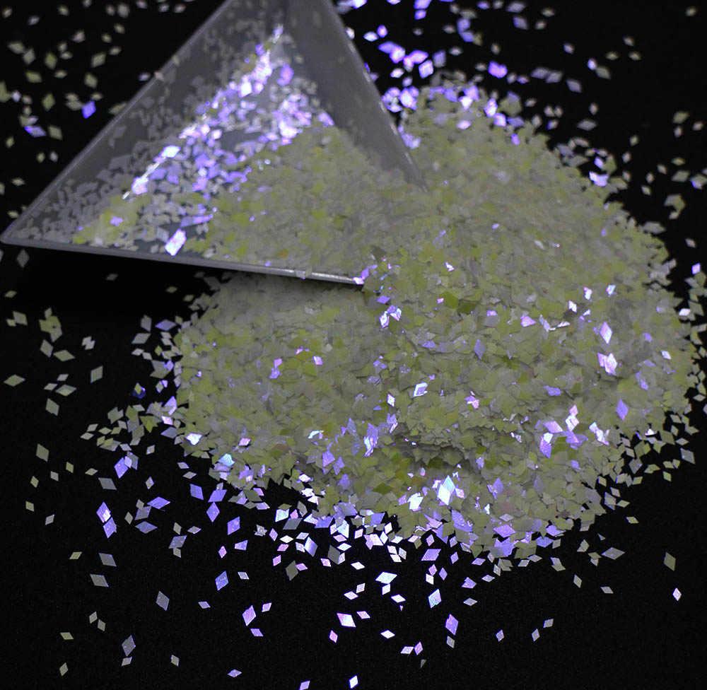 10g/pack, Rhombus/Hexagon/Heart/Round/Triangle/Star Sequins, Iridescent Rainbow Shining Slice 3D Nail Art Glitters Paillettes