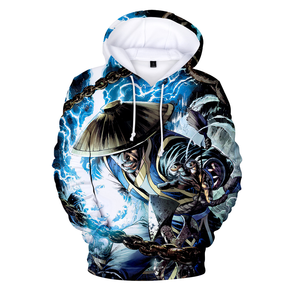 Mortal Kombat 11 Hoodies Kawaii 3D Print Sweatshirt Boy/girl Clothes 2019 Hot Sale Casual Newest Plus Size Hoodies