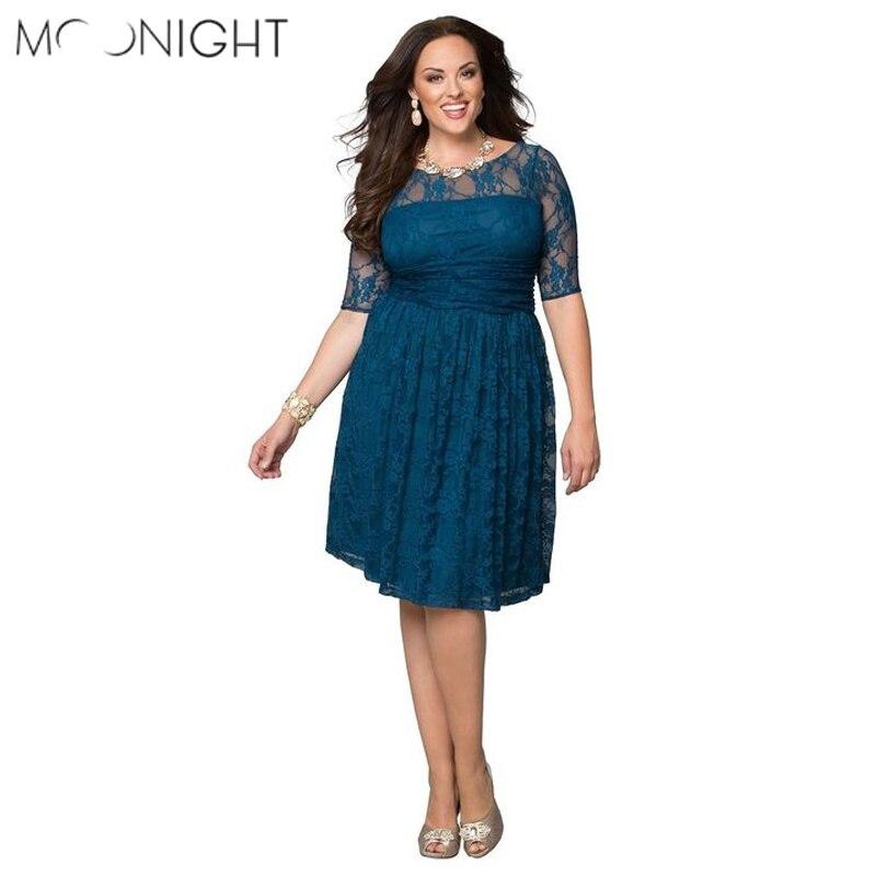 MOONIGHT S 2XL Sexy Women Club Dress Blue Purple Lace Dress Party Dress