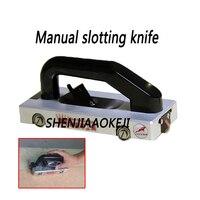 PVC guide wheel slotting device Sports floor grooving tool Plastic Manual slotting knife U/V double cutter head aluminum alloy
