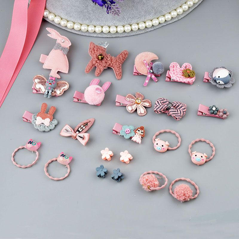 24/18/10/12 pcs   Headwear   Set Children Accessories Ribbon Bow Hair clip Hairpins Girls Princess Headdress Crown Hairgrips Rabbit