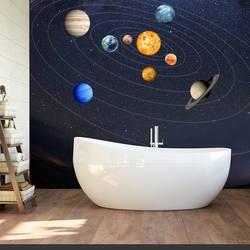 Горячая 9 шт. наклейки на стену солнечной системы настенная светящиеся планеты настенные наклейки Дети спальня гостиная