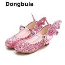 Kids Shoes Party-Dress Princess Sandals Weddin Butterfly High-Heel Girls Summer