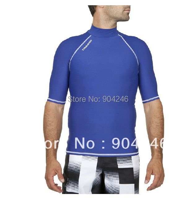 2e559274ca Free shipping DECATHLON Surfing swimming beach sun protection clothing  short sleeve T shirt 2013 summer female models big yards-in T-Shirts from  Men's ...