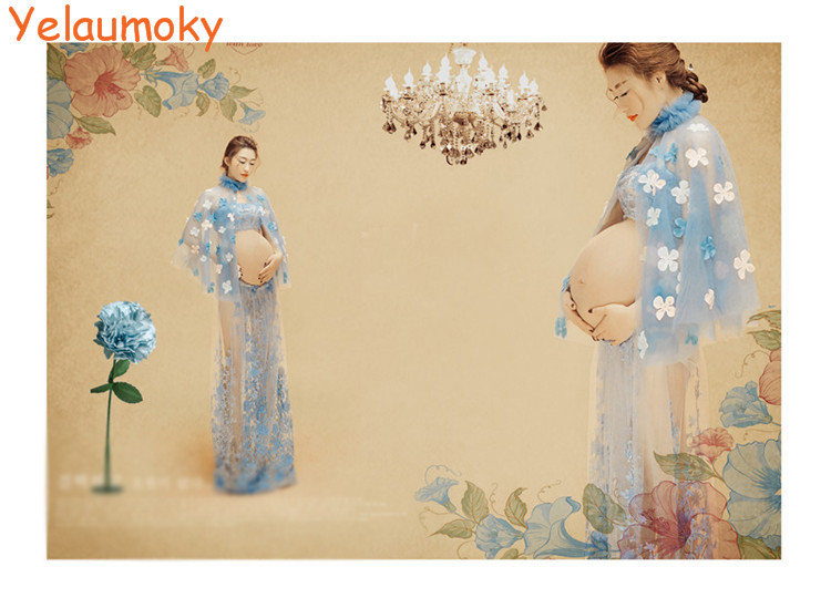 pregnant top + skirts outfit clothing sets maternity photography shooting props pregnancy garments for photo pros [Yelaumoky]