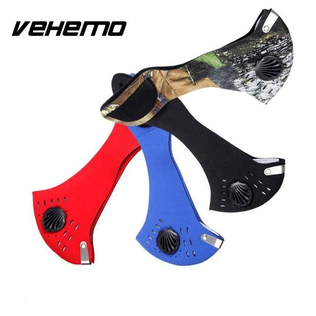 Vehemo Cool Anti Dust Motorcycle Bicycle Cycling Bike Ski Atv Half Face Mask Filter Black Durable Neoprene High quality 1
