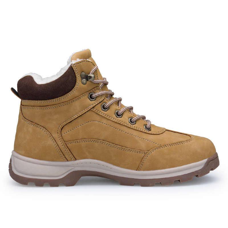 Merkmak/мужские зимние ботинки из водонепроницаемого материала; коллекция 2018 года; Сезон Зима; фирменные очень теплые мужские кожаные ботинки на резиновой подошве с шерстью; уличные ботинки для отдыха; обувь