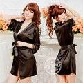 Tentação dois conjuntos de grandes estaleiros de manga comprida roupa conjunto lady roupão camisola início mobiliário roupas de inverno