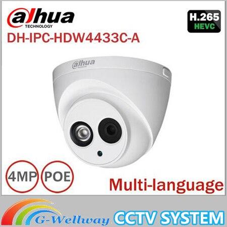 Dahua IPC-HDW4433C-A replace upgrade IPC-HDW4431C-A 4MP Network IP Camera IR POE CCTV Mic Built-in H265 replace IPC-HDW4421C-A dahua 6mp ip camera ipc hdw4631c a poe network camera with built in micro upgrade model of 4mp camera ipc hdw4431c a
